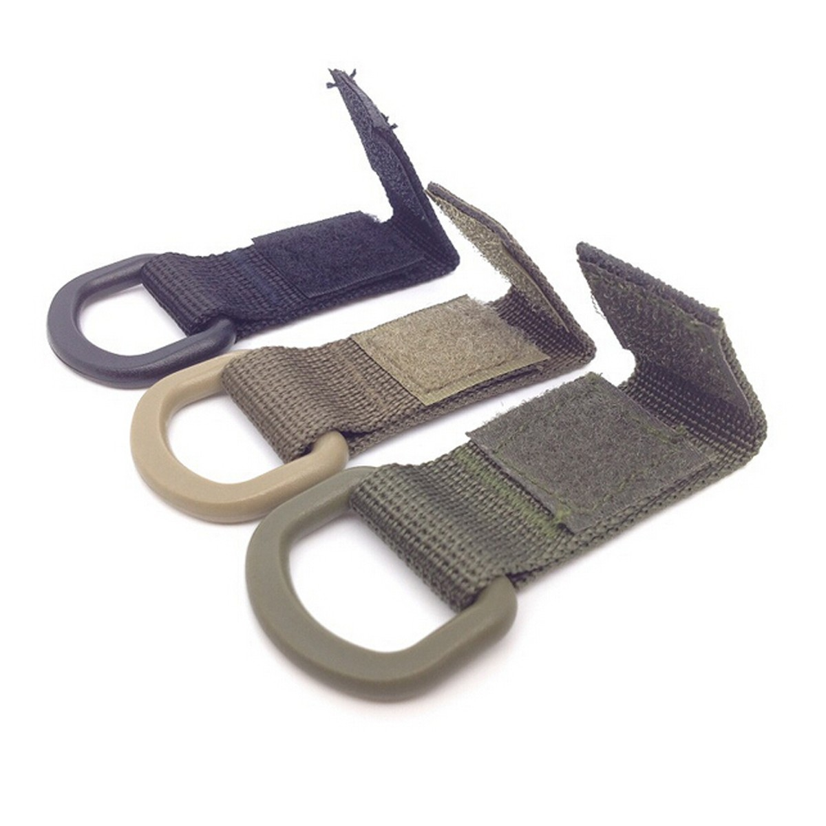 Military Tactical Carabiner Nylon Strap Buckle Hook Belt Hanging Keychain D-shaped Ring Molle System