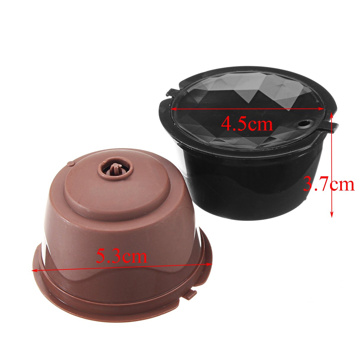 2nd Generation Diamond Cut Reusable Refillable Coffee Capsule Cup for Dolce Gusto Pod Cup