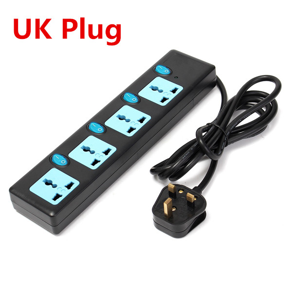 13A 4-Outlet Power Strip Surge Protector GB & British Plug with Separate Switch