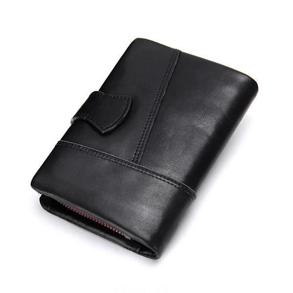 Genuine Leather Wallet Vintage Standstone Men Wallets