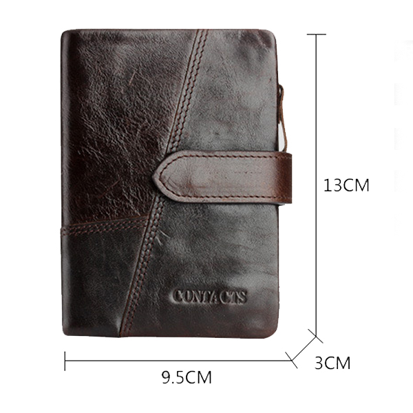 Genuine Leather Wallet Vintage Standstone Men Wallets