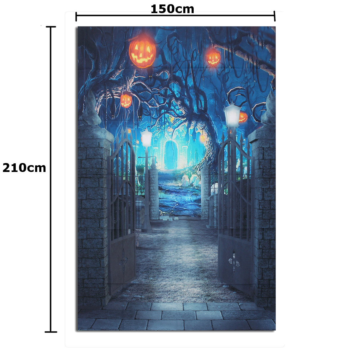 5x7ft Halloween Deep Banked Path Vinyl Backdrop Photography Prop Studio Photo Background