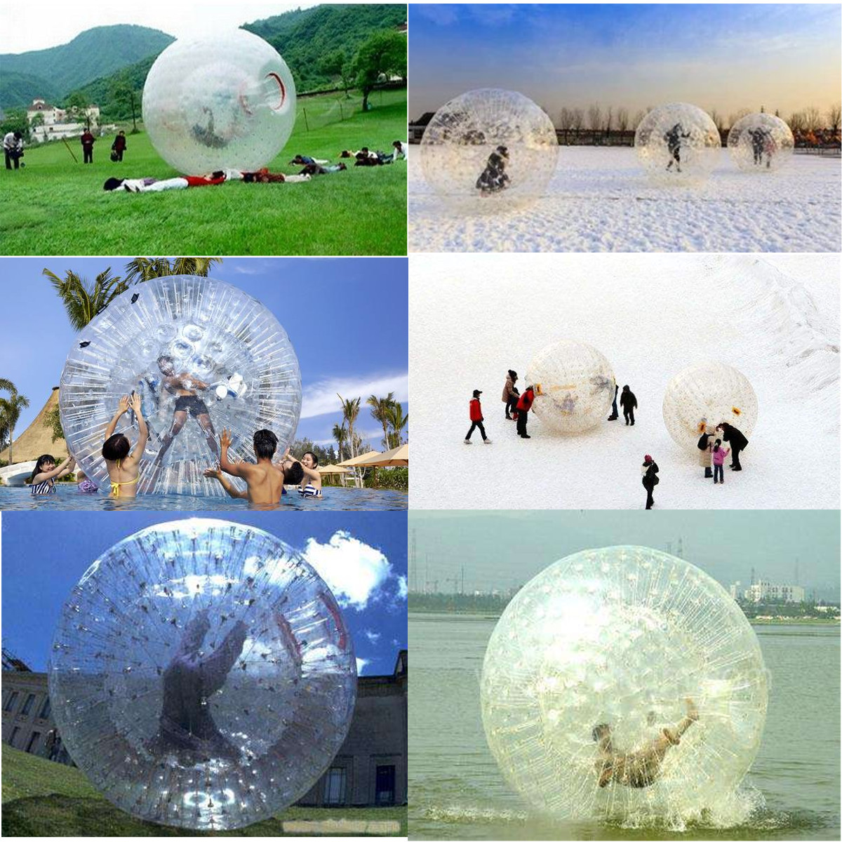 Outdoor Garden Yard 2.5m Inflating Zorb Ball Human Hamster Bumper Water Ball For Kids Adults
