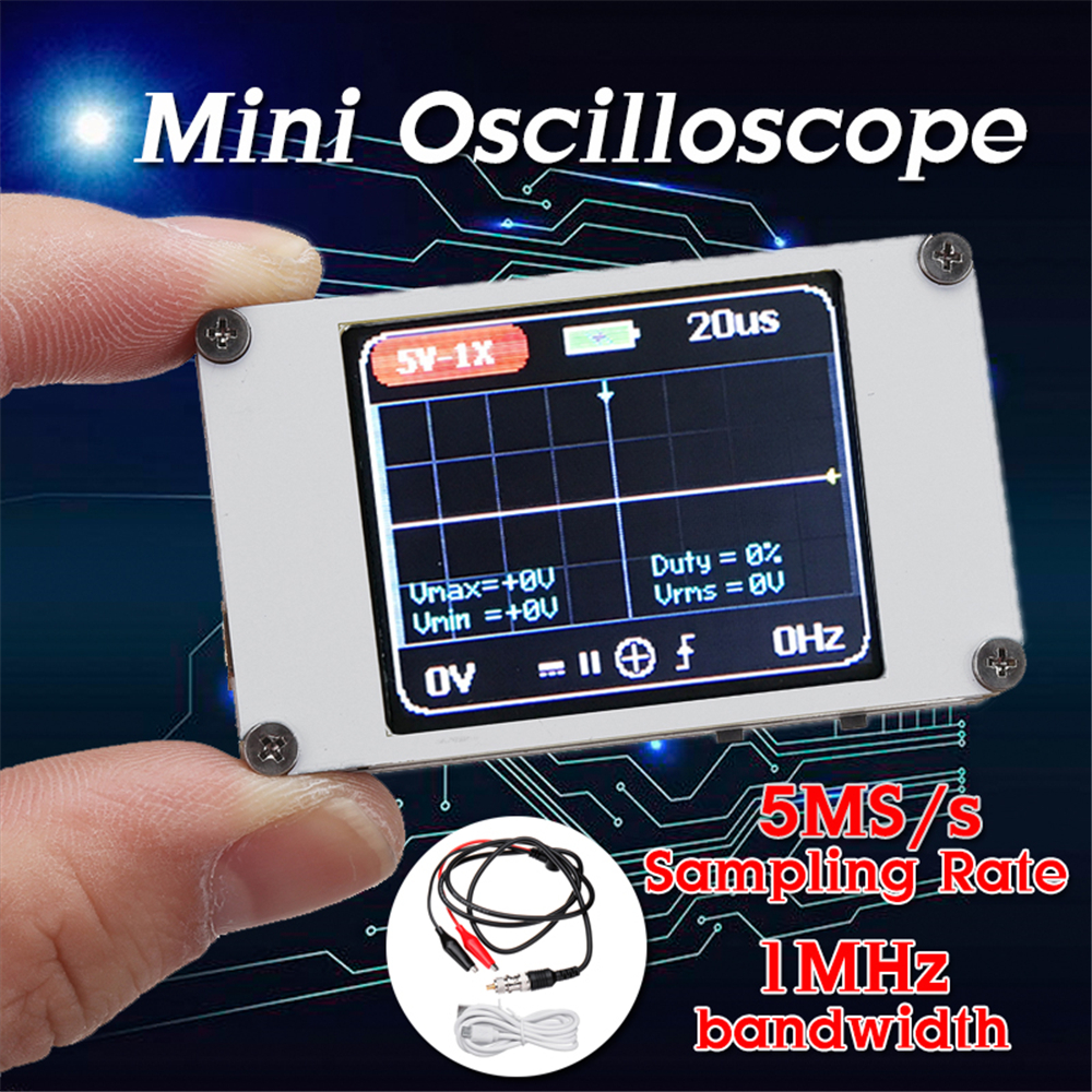 DANIU DSO188 Pocket Digital Ultra-small Oscilloscope 1M Bandwidth 5M Sample Rate Handheld Oscilloscope Kit