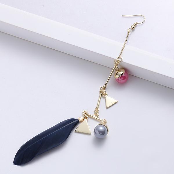 JASSY® Feather Resin Beads Ear Drop Long Pierced Earring