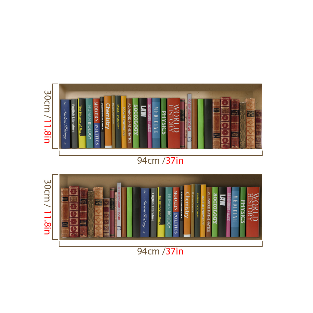 Bookcase 3D Riding Lattice Wall Decals PAG Removable Grid Wall Art Stickers Home Decor Gift