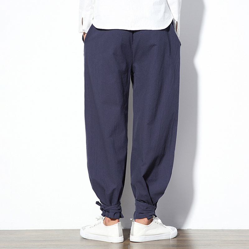 Charmkpr Mens Cotton Casual Ankle Banded Harem Pants
