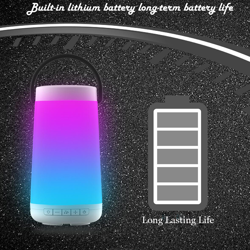 Pulse3 Colorful LED Lamp Wireless bluetooth Speaker Music Light TF Card Hands-free Outdoors Speaker