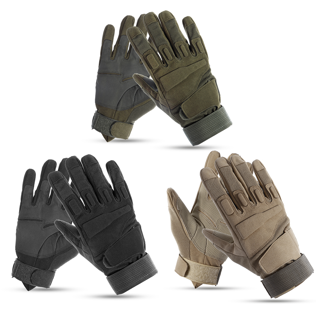 1 Pair Outdoor Tactical Gloves Men Army Military Sports Climbing Cycling Fitness Anti-skid Gloves