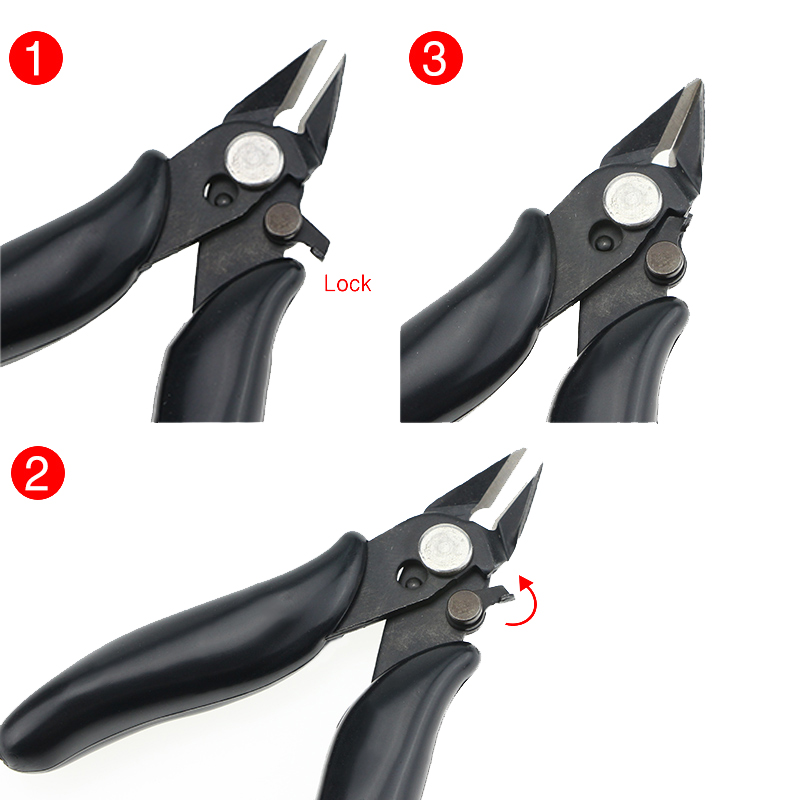 DANIU Mini Pliers Hand Tools Diagonal Side Cutting Pliers Stripping Pliers Electrical Wire Cable Cutters Snips Flush Nipper