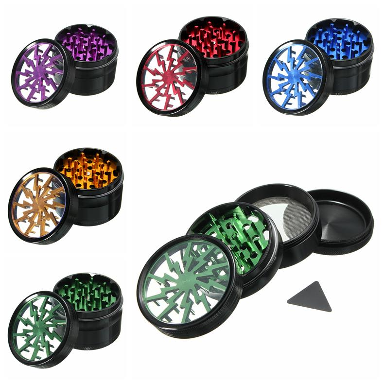 4-layer Aluminum Herbal Herb Tobacco Grinder Smoke Grinders
