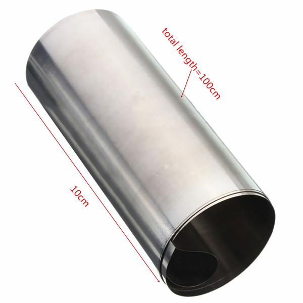 Silver Stainless Steel Fine Plate Sheet Foil 0.1x100x1000mm