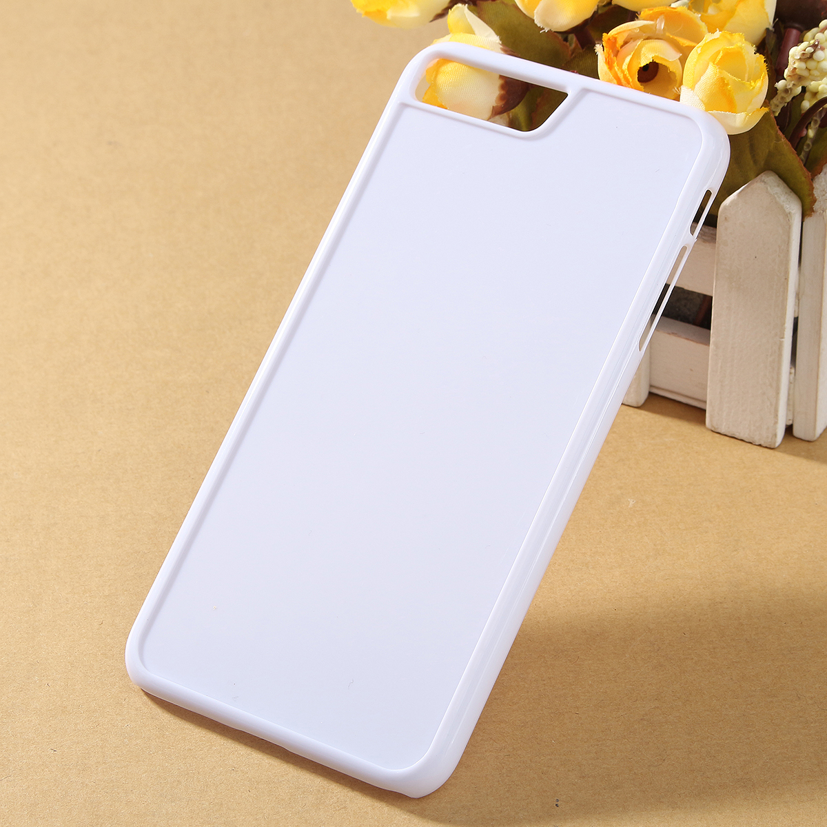 White Ultra Slim PC Case Shockproof Cover Plastic Case For iPhone 7 Plus