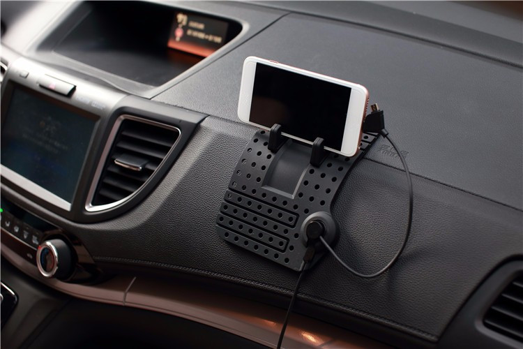 Non-Slip Car Pad Support Magnetic Dashboard Stand 8 Pin Usb Cable Mount Charger Holder For Samsung GPS