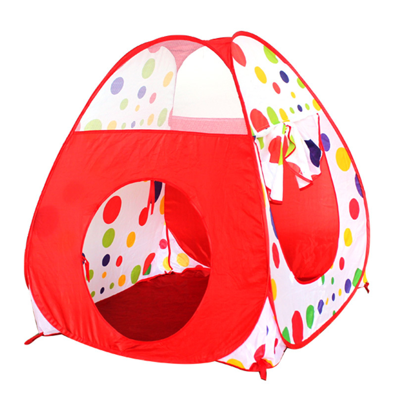 2 In 1 Play Tent 90cm Tunnel 120cm Kids Toddlers Pop Up Cubby Play House Indoor Outdoor Toy