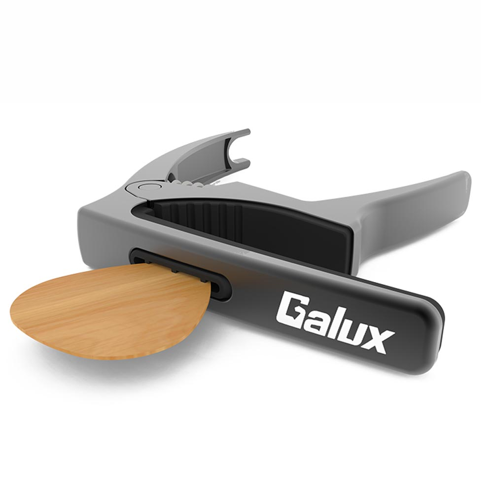 Galux GC-500A 3 in 1 Guitar Capo with Nail Puller Picks Hidden Slot for Folk Guitar