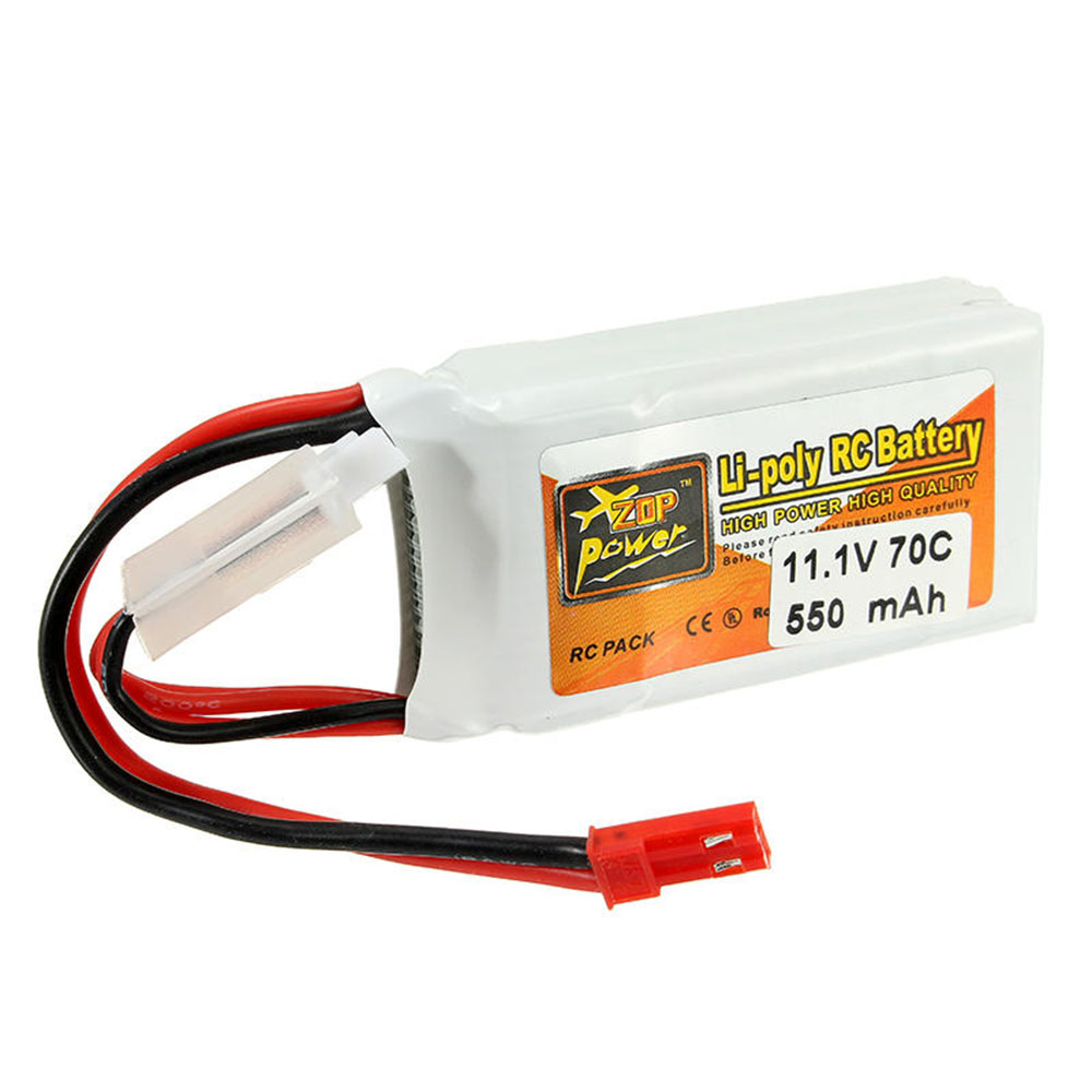 3PCS ZOP Power 11.1V 550mah 70C 3S Lipo Battery With JST Plug For RC Model