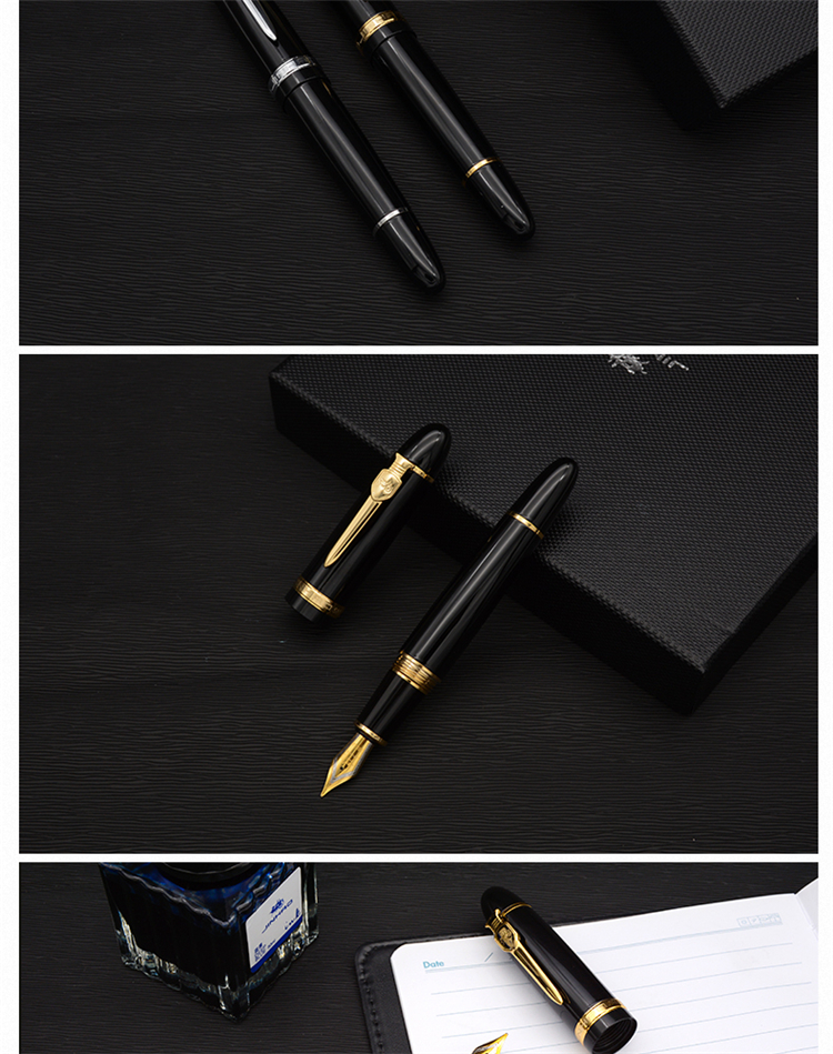 Jinhao Metal Material Ink Pens Business Supplies Fountain Pen Office School Stationery 0.5mm