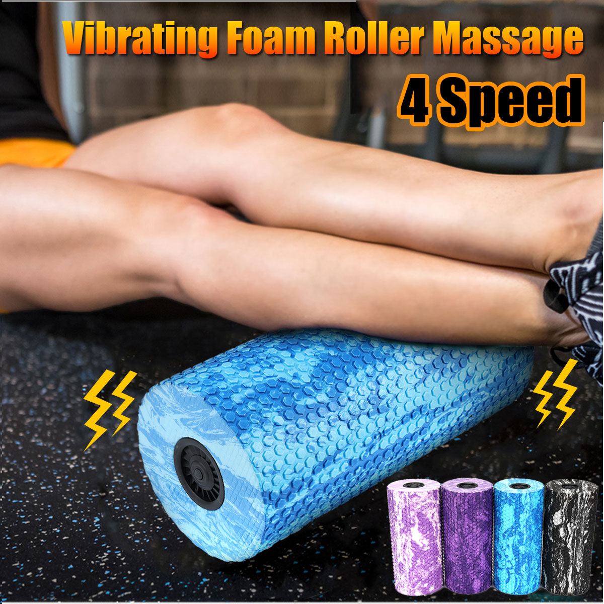 EVA Yoga Pilates Home Gym Vibrating Foam Roller Massage