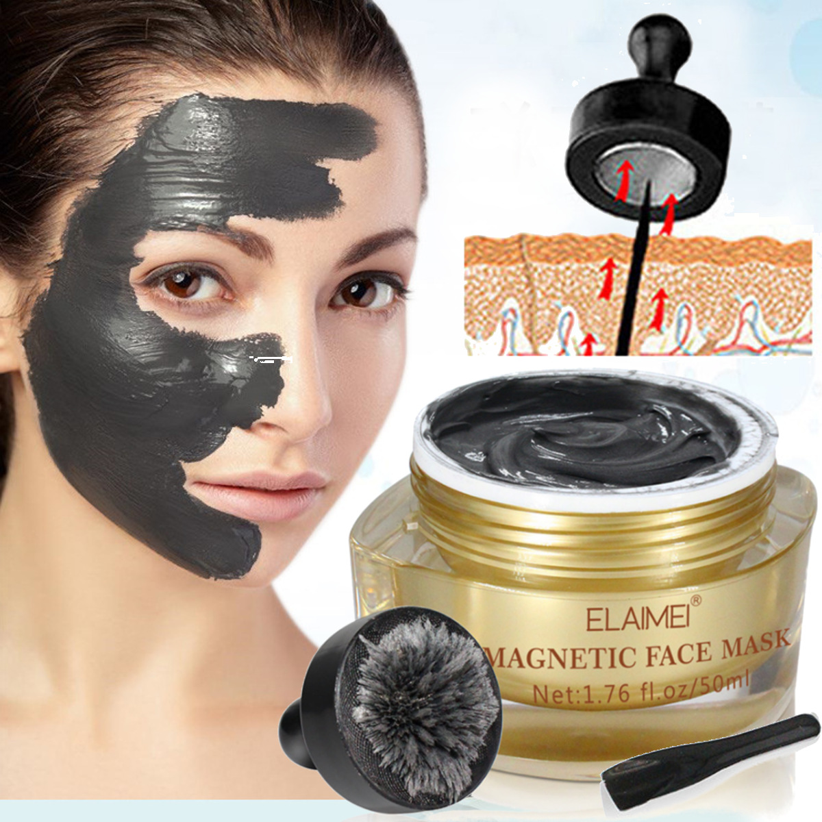 ELAIMEI Magnetic Face Mask Pore Cleansing