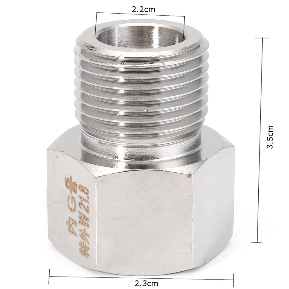 Aquatic CO2 Cylinder Connector Adapter Converter for Regulator G5/8 to W21.8