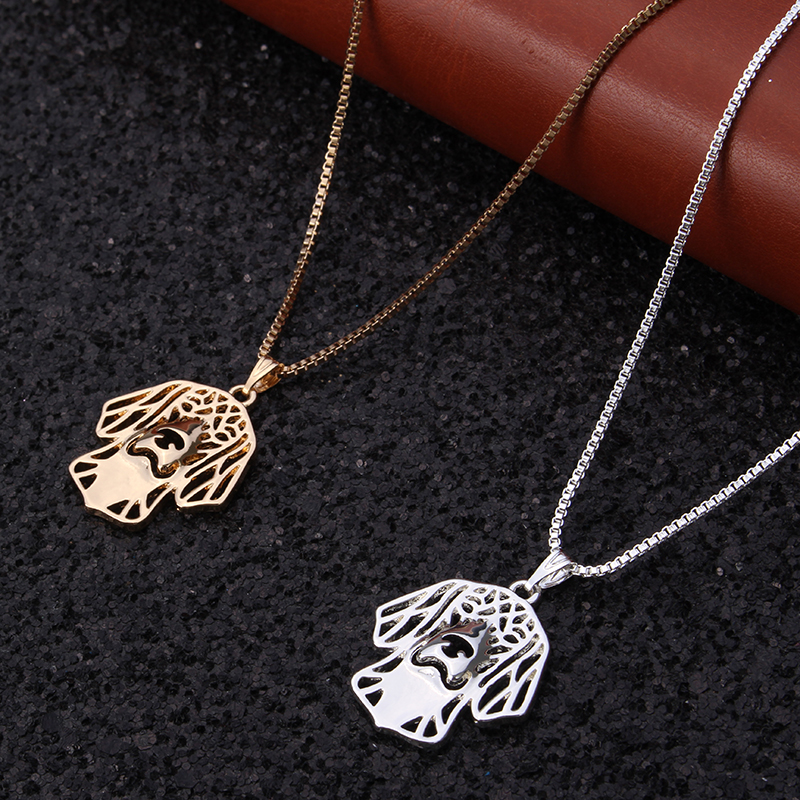 Sweet Little Puppy Pendant Necklace Plated Lucky Chain Women Gift