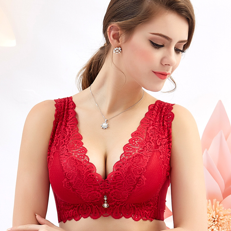 Women Lace Adjustable Wireless Cozy Vest Bra