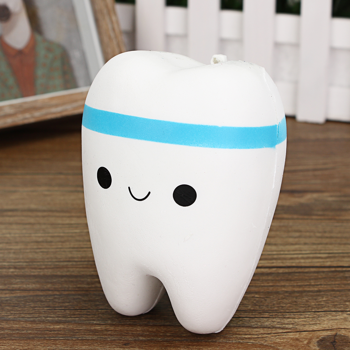 Squishy Creative Smile Bright Tooth Slow Rising Ball chains Soft Toy Gift