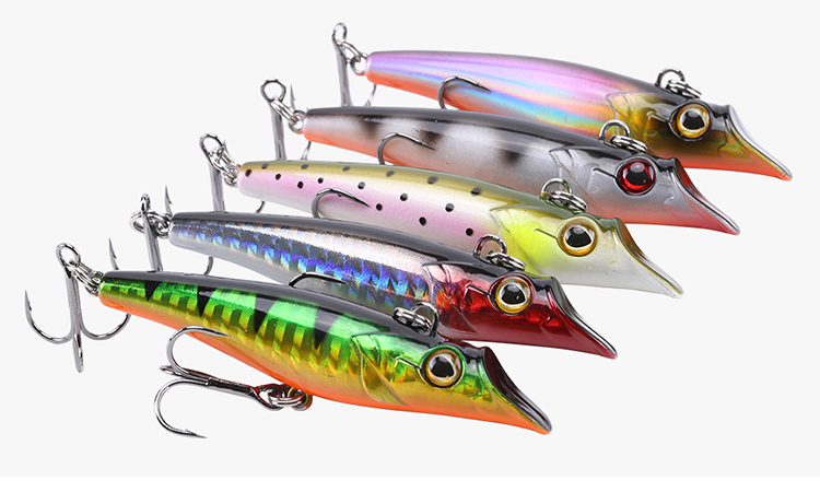 SeaKnight SK015 1PC 19g 75mm Sinking Fishing Lure Pencil 3D Eyes Simulation Skin Hard Fish Baits