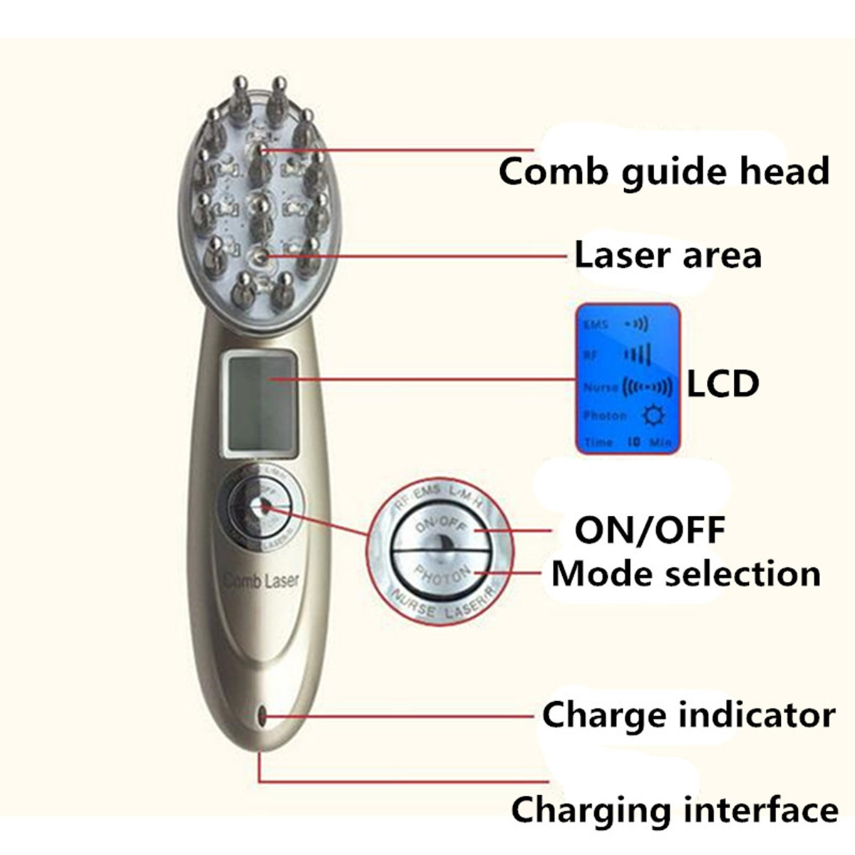 Laser Comb Massage Hair Growth
