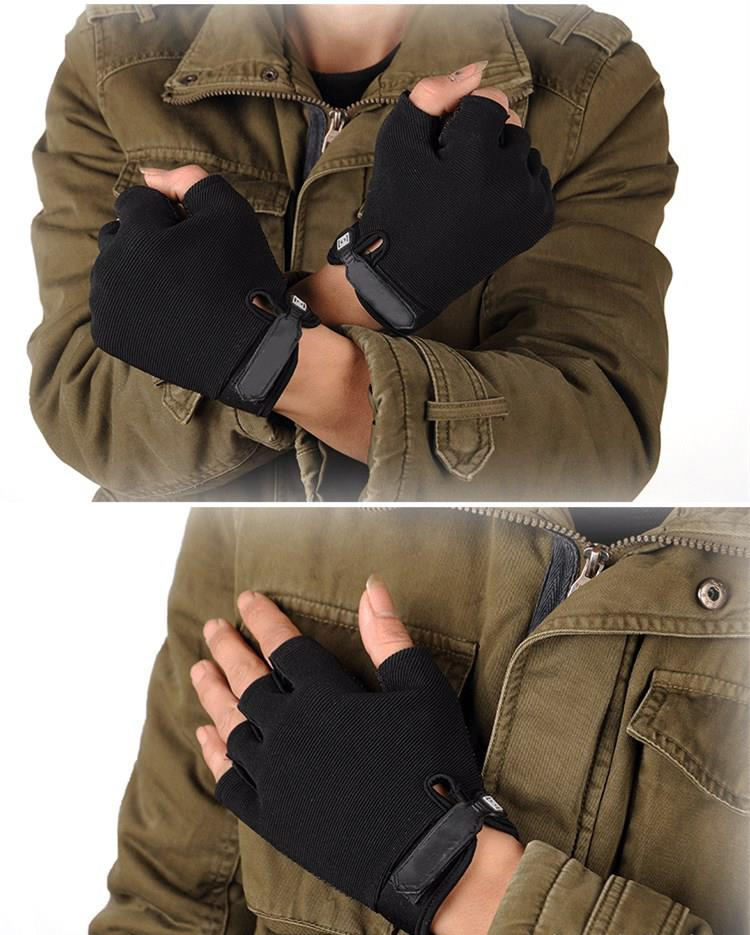 FAITH PRO Hunting Sports Short Finger Glove Equipment Motorcycle Electric Car Bike Anti Skid Gloves