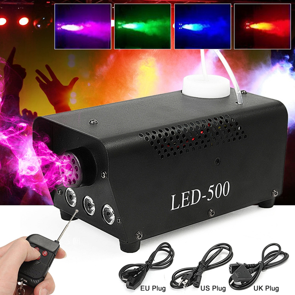500W LED Wireless Remote Control Smoke Fog Machine DJ Disco Laser Stage Light Club Pub Christmas