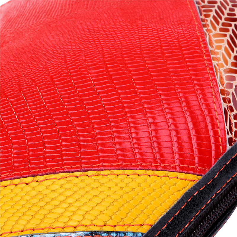 Women Genuine Leather Patchwork Stitching Crossbody Bag