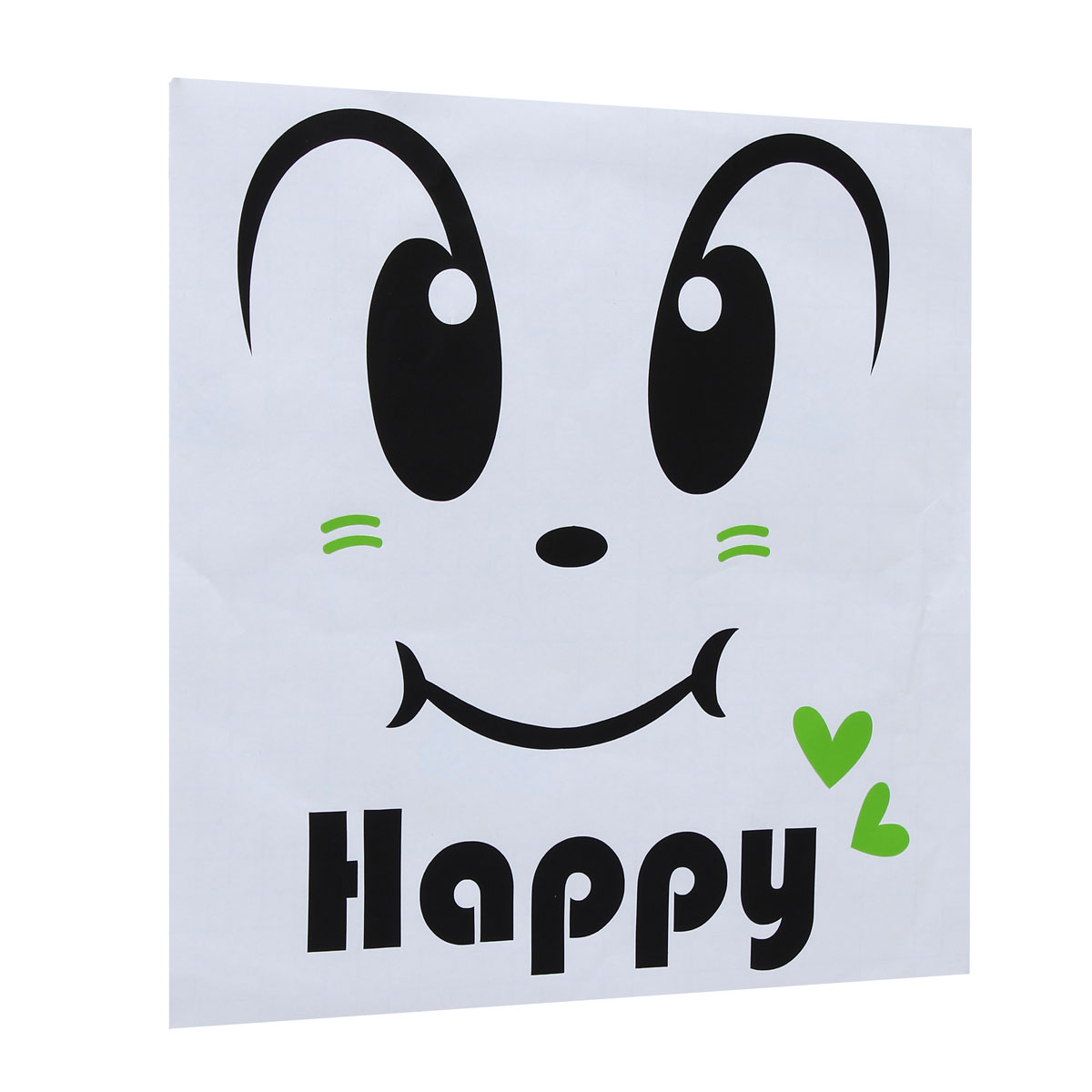 Happy Smily Face Toilet Seat Cover Sticker Bathroom Waterproof Wall Decal Home Decor