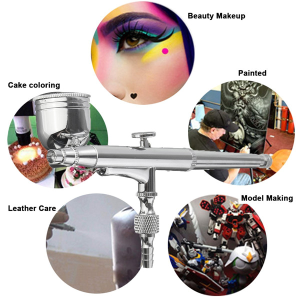 0.3mm 7cc T132 Air Brush Spray Dual Action Gravity Airbrush Spray Gun Paint Tattoo Kit