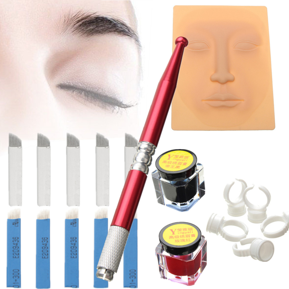 Micro Blading Permanent Makeup Eyebrow Tattoo Needle Pen Set