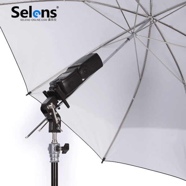 Selens SE-L012 Flash Hot Shoe Adapter Speedlite Umbrella Holder Light Stand Screw Mount L Bracket