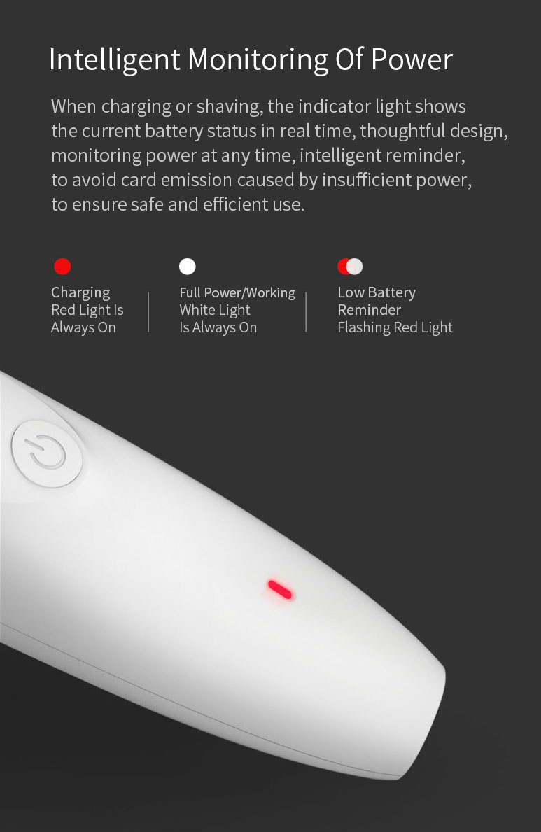 Pawbby Pet Shaver Pet Dog Cat Grooming 2000mAh Lithium Battery Low Noise Intelligent Monitoring of Power From Xiaomi Youpin