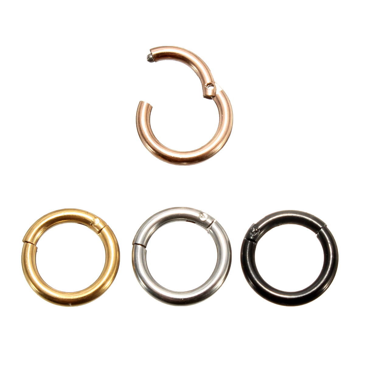 8mm Stainless Steel Hoop Ring Ear Lip Nose Septum Segment Body Jewelry