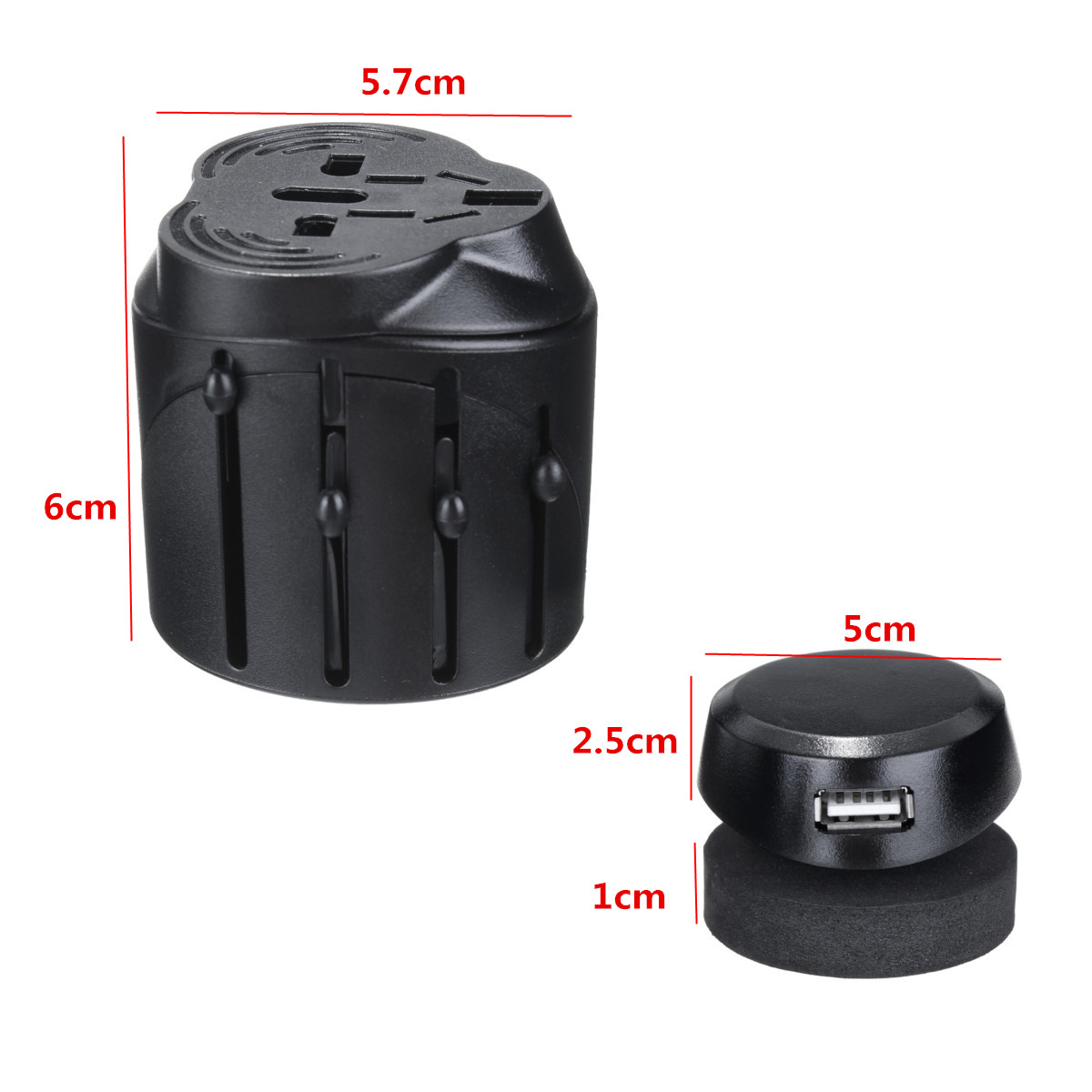 US/AU/UK/EU Universal AC Power Plug Worldwide Travel Adapter Converter USB Port