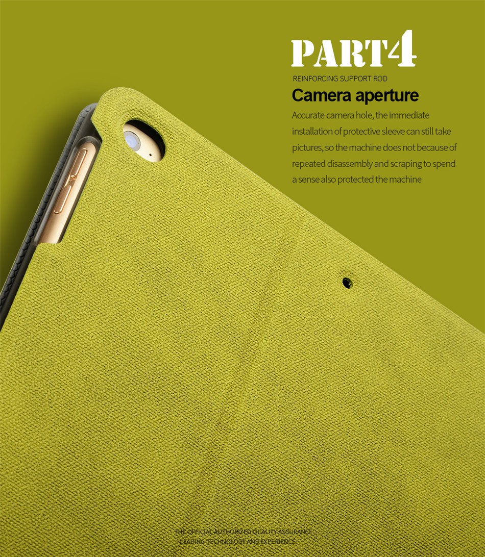 Vintage Smart Sleep Kickstand Leather Tablet Case For iPad Air/Air 2/New iPad 2017/iPad 2018