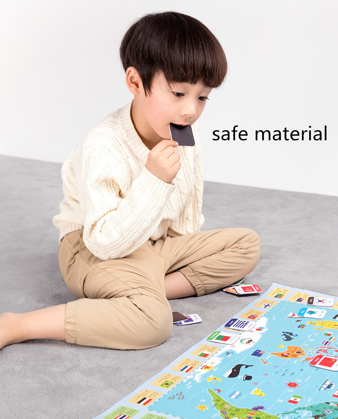 XIAOMI JIQIDAO Magnetic Board Game Toy Alphabet Color Figures National Flag Learning Developmental Toy Fridge