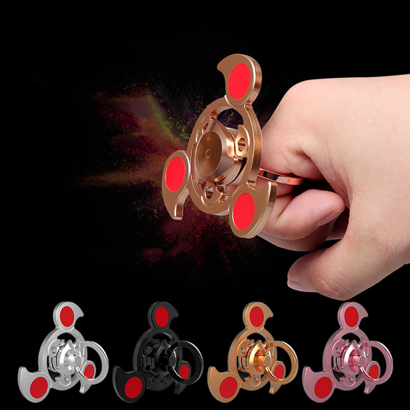 Aluminum Alloy Colorful Ring Shape Rotating Fidget Hand Spinner EDC Fingertips Reduce Stress Toys