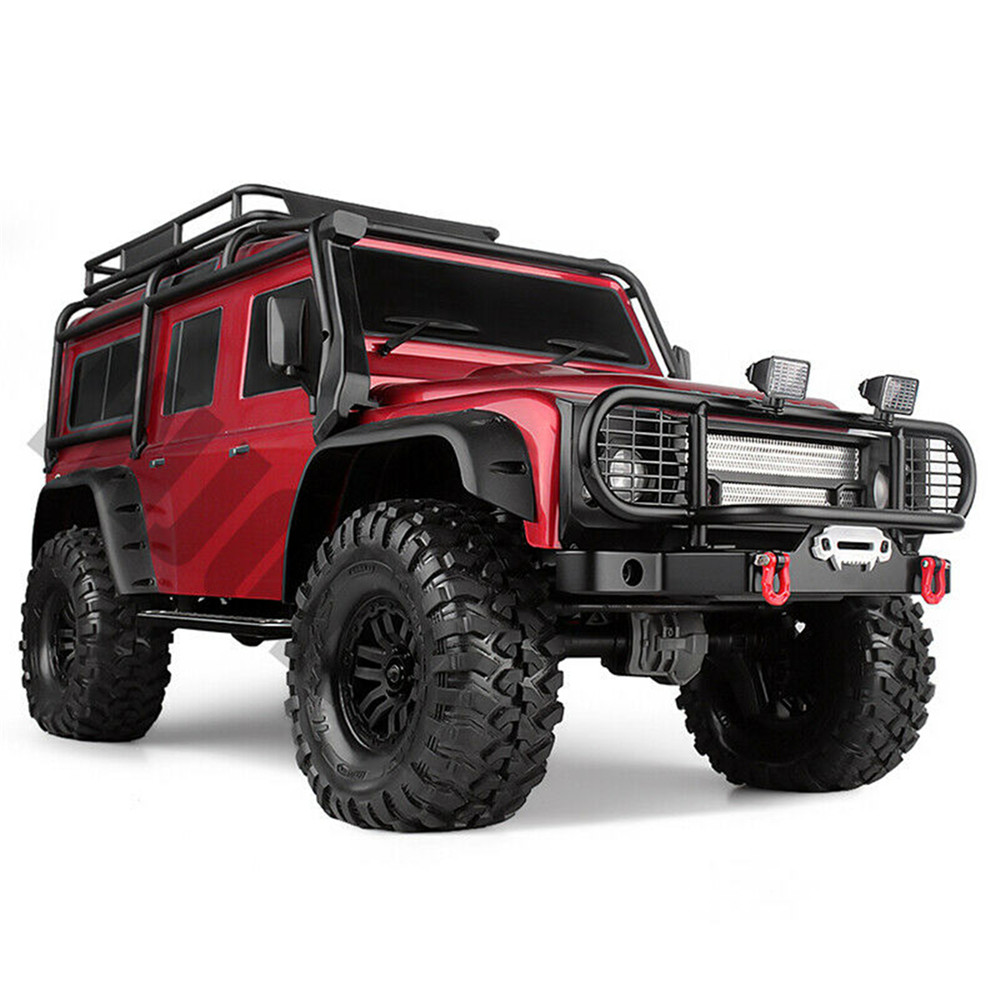 1 Set Metal Front Bumper With Light for 1/10 Scale RC Crawler Car Traxxas TRX4 TRX-4 - Photo: 2