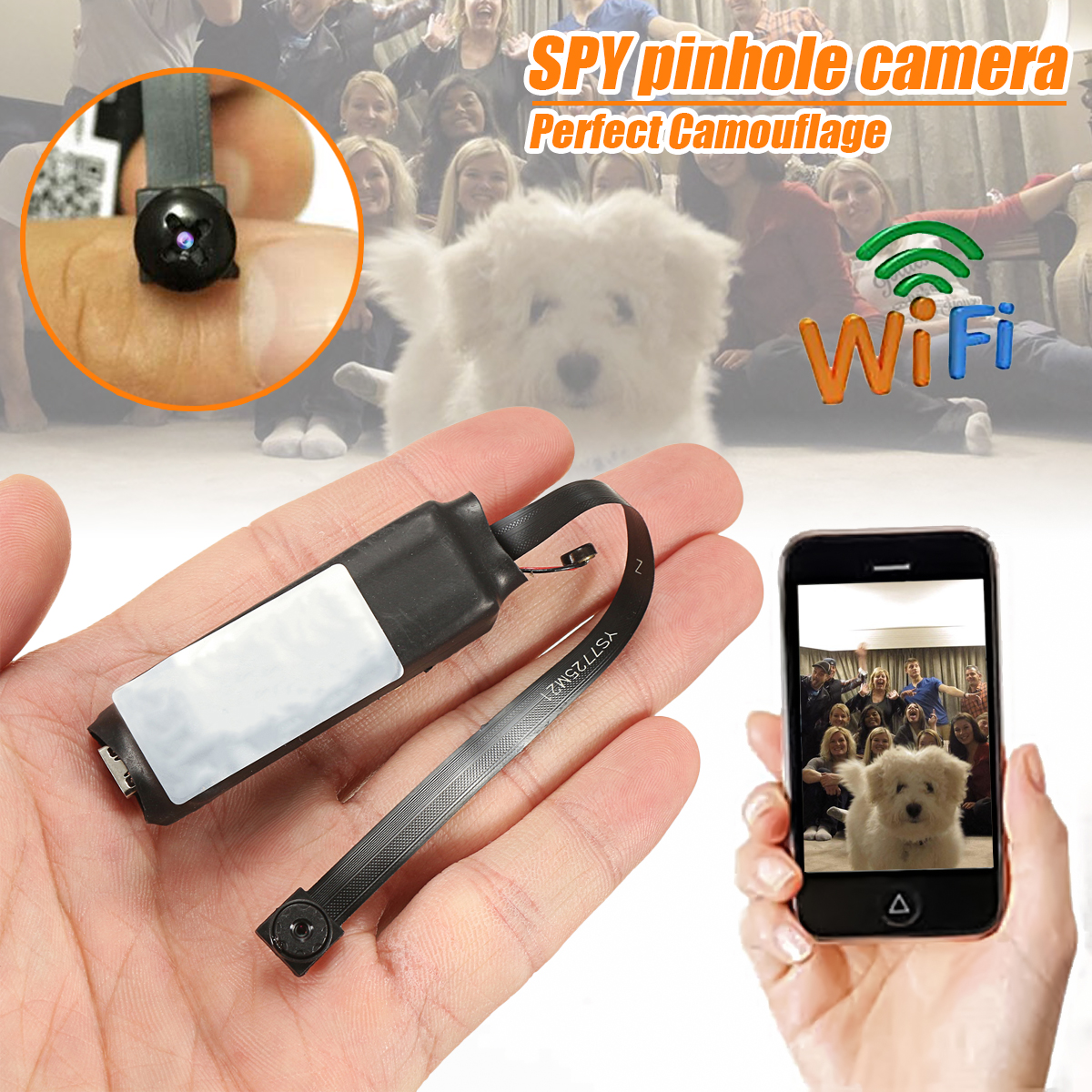 DANIU Mini Wireless Hidden Camera WIFI IP Pinhole DIY P2P Video Camera Support TF Card Audio