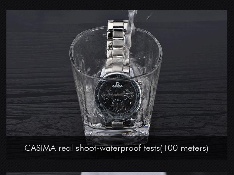 CASIMA 5114 Watch Waterproof Scratch Resistant Luminous Business Classic Watch