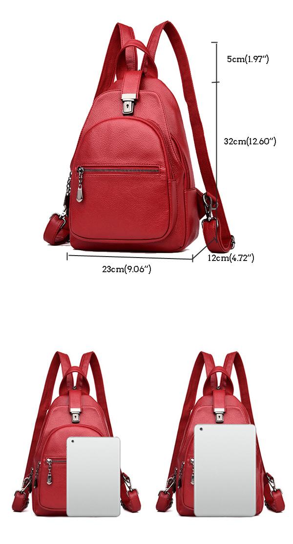 Women Multi-function Anti-theft Backpack Shoulder Bag