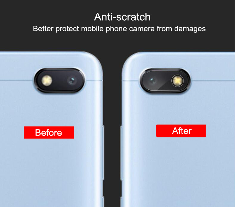 Bakeey™ 2 PCS Anti-scratch Clear Soft Camera Len Tempered Glass Screen Protector for Xiaomi Redmi 6A