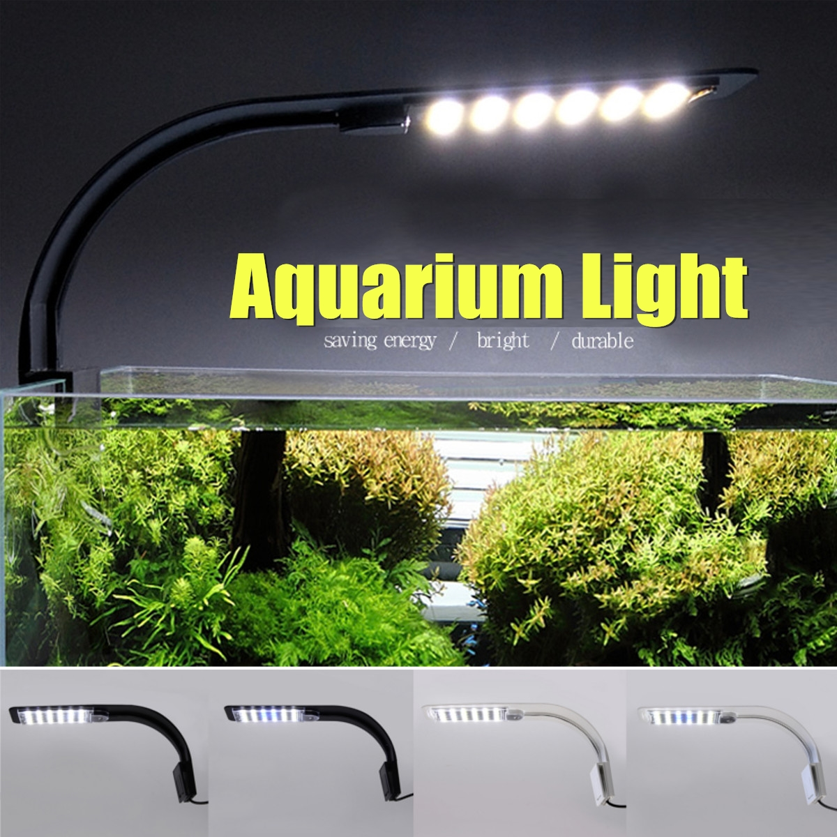 220V 10W Super Slim 20 LED 10W Aquarium Light Arm Clip on Plant Grow Plant Fish Tank Lamp
