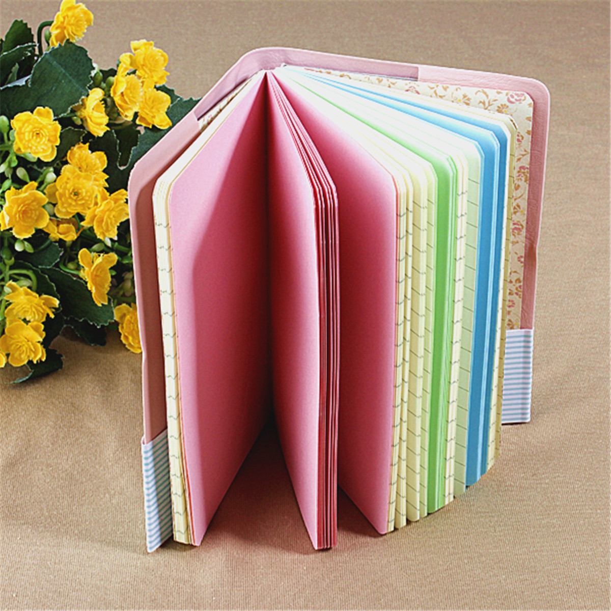 Candy Colors Charming Smiley Paper Diary Notebook Memo Book leather Note Pads Stationery Pocketbook